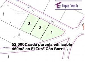 parcela edificable, 460m2 llano en Bigues i Riells (El Turó-Parroquia de Bigues)