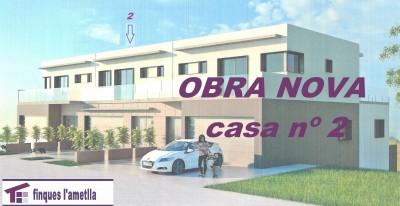 Obra nova - torre parejada d'estil modern a l'Ametlla del Vallès (Santacreu)